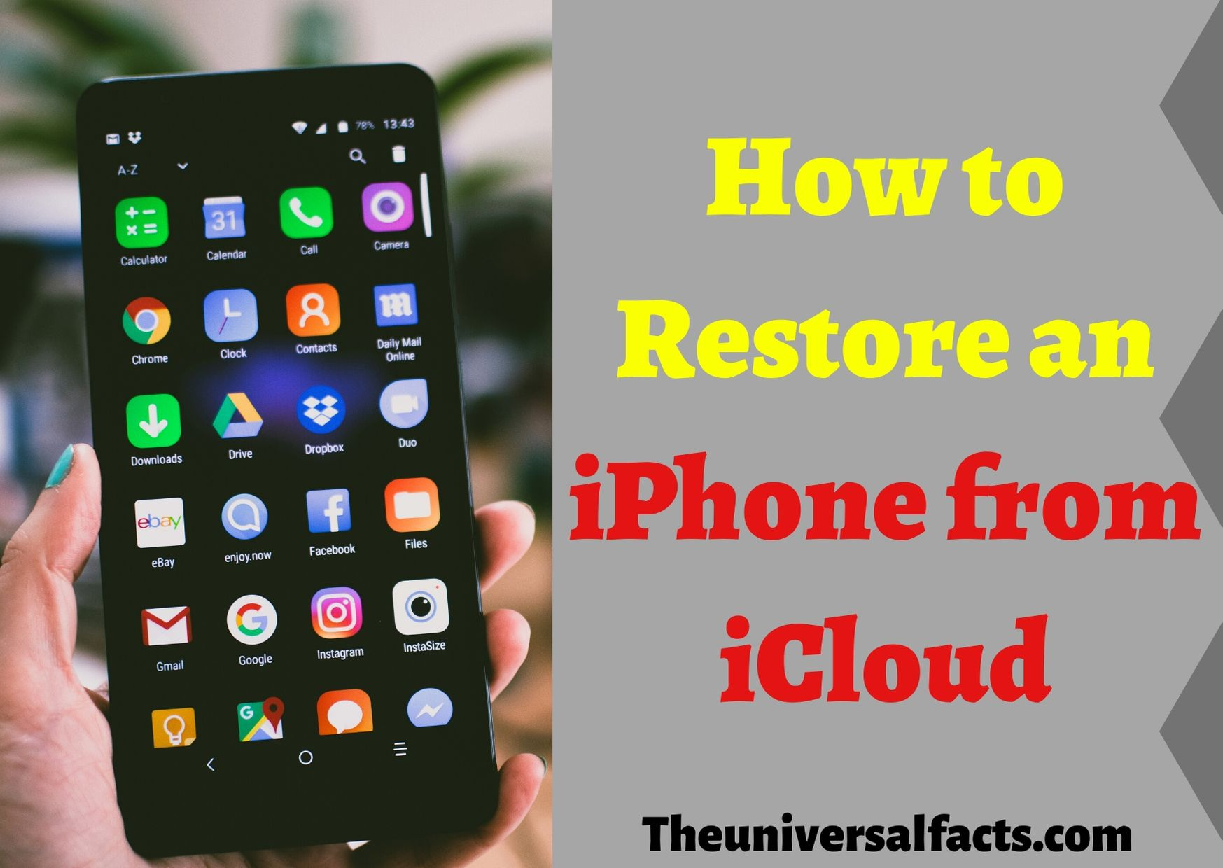 How to Restore an iPhone from iCloud