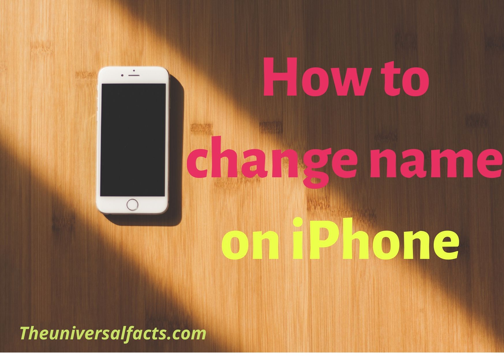 How to change name on iPhone