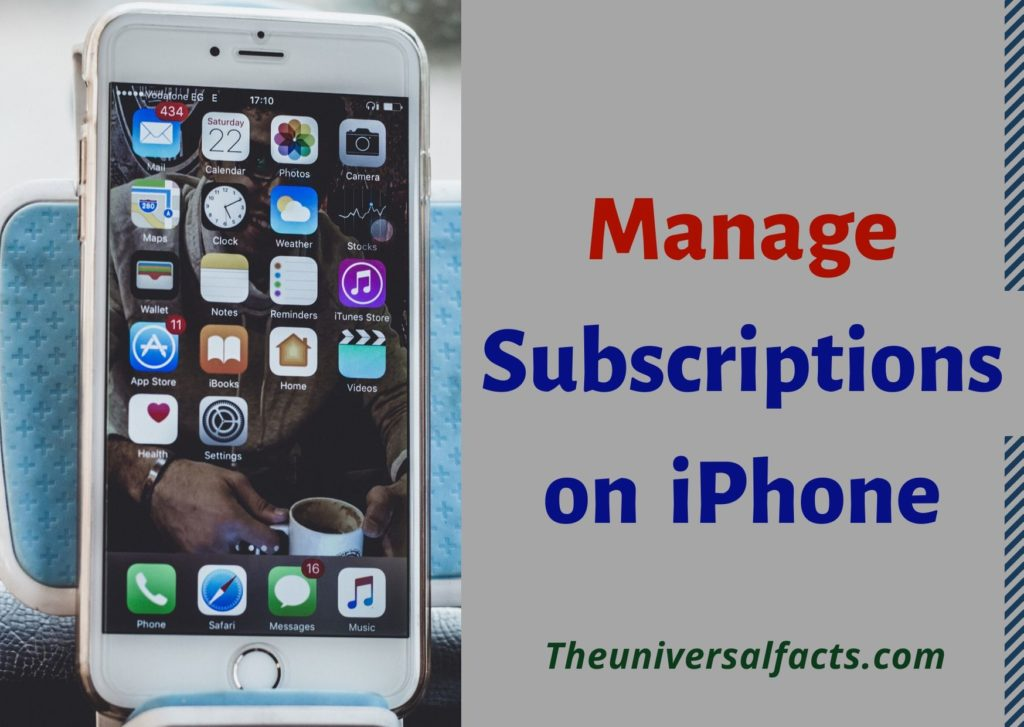 manage subscriptions from iPhone