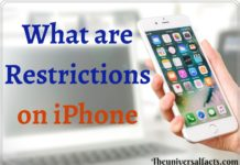 What are Restrictions on iPhone