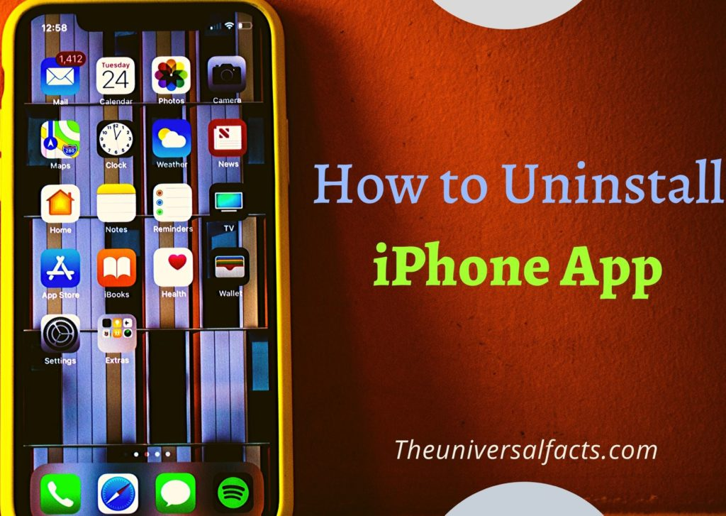 How to Uninstall iPhone app