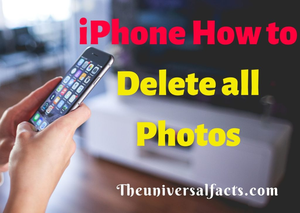iPhone How to Delete all Photos
