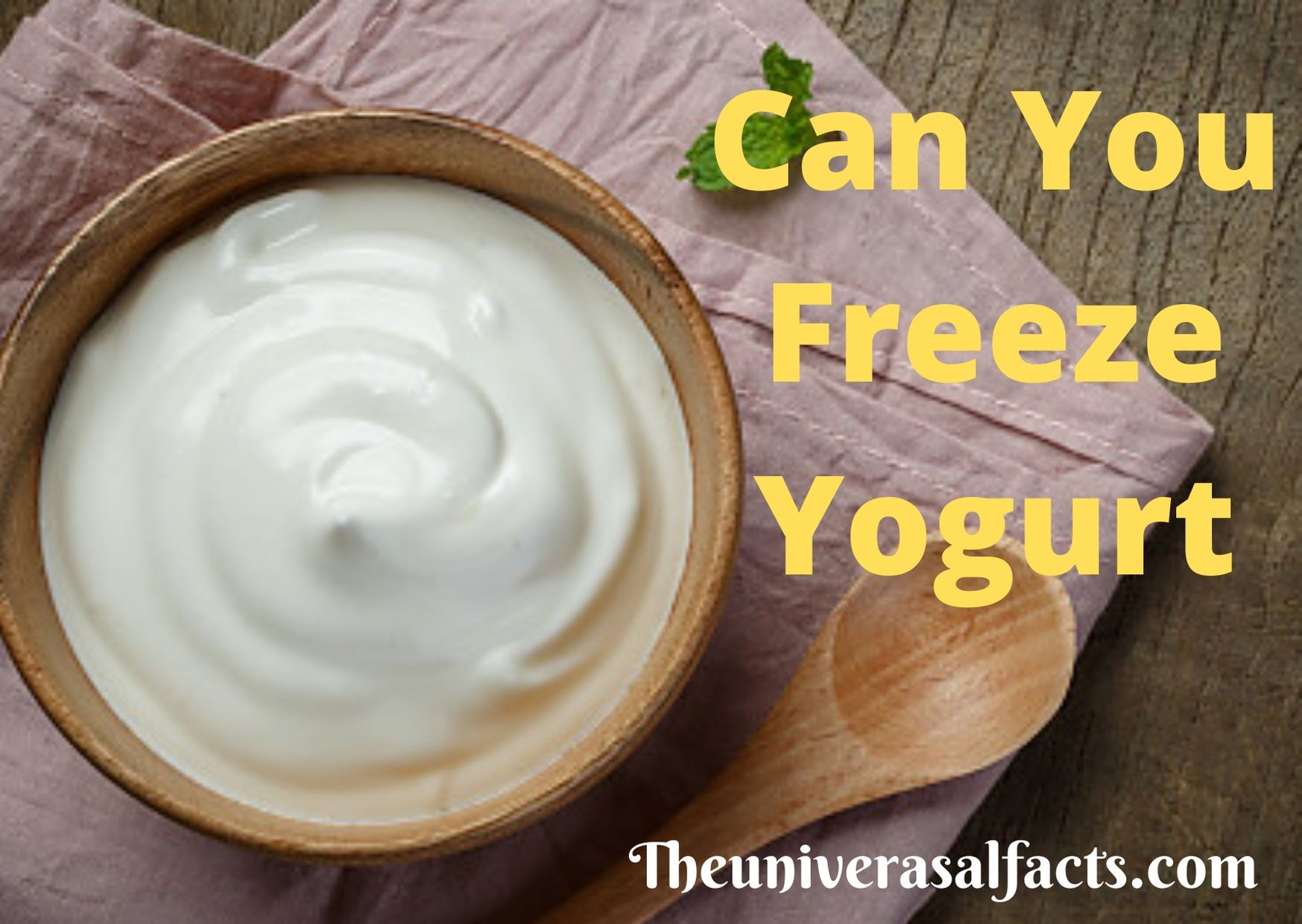 Can You Freeze Yogurt