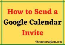 How to Send a Google Calendar Invite